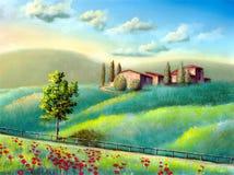 Italienische Landschaft lizenzfreie abbildung