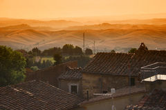 Italienische Landschaft Toskana Stockbild