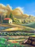 Italienische landwirtschaftliche Landschaft Lizenzfreies Stockbild