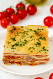 Italienische Lasagne. Lizenzfreie Stockfotografie