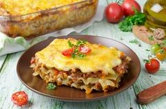 Italienische Lasagne Stockfotos