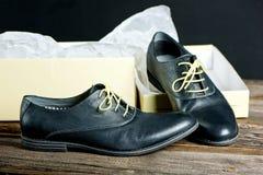 Italienische lederne Schuhe Stockfotografie