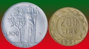 Italienische Lira Stockbild