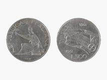 500 italienische Lire - Silbermünze Stockfotos