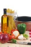 Italienische Mahlzeit Lizenzfreie Stockbilder