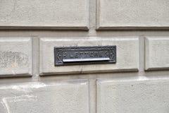 Italienische Mailbox Lizenzfreie Stockfotos