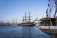 Italienische Marine-Schiff, Amerigo Vespucci Stockbild