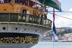 Italienische Marine-Schiff, Amerigo Vespucci Stockfoto