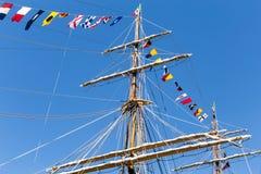 Italienische Marine-Schiff, Amerigo Vespucci Stockfotos