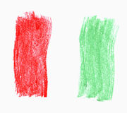 Italienische Markierungsfahne Stockbild