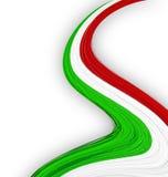Italienische Markierungsfahne. Stockfoto