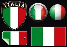 Italienische Markierungsfahne Stockfotos