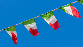 Italienische Markierungsfahnen Stockbilder