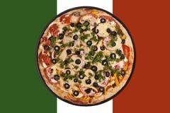 Italienische Markierungsfahnenpizza Lizenzfreie Stockfotografie
