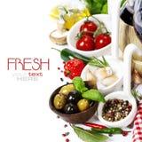Italienische Nahrung. Stockfoto