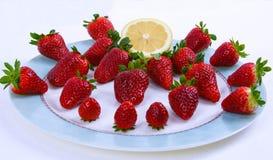 Italienische natürliche Erdbeere Stockfoto