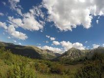 Italienische Nationalparklandschaft der Gebirgslandschaft stockfoto