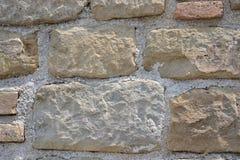Italienische Natursteinwand Stockfoto