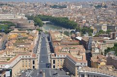 Italienische Panoramastraßenansicht Stockfotografie