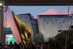 Italienische Pavillonausstellung Stockfotos