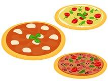 Italienische Pizzas Lizenzfreies Stockfoto
