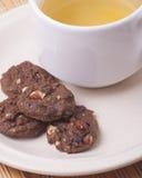 Italienische Plätzchen, biscotti mit Mandel Stockfoto