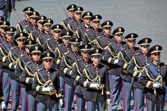 Italienische Polizei auf Parade Stockfoto