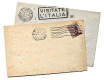 Italienische Postkarte Stockfotografie