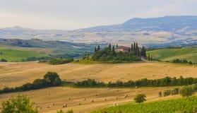 Italienische Region Toskana, Morgenlandschaft stockfoto