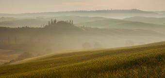 Italienische Region Toskana, Morgenlandschaft lizenzfreies stockfoto