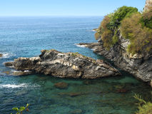 Italienische Riviera-Küste Lizenzfreie Stockbilder