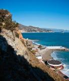 Italienische Riviera-Landschaft stockfoto