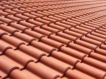 Italienische rote Dachfliesen Stockfotos