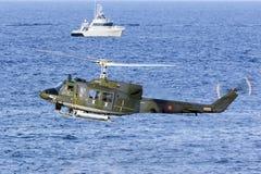 Italienische SAR-Hubschrauberdemonstration Lizenzfreies Stockfoto