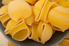 Italienische Schnecke lumaconi Teigwaren Stockfoto