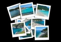 Italienische Seefotos in einer Collage stockbild