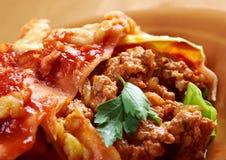 Italienische selbst gemachte Lasagne Stockfotografie
