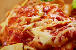 Italienische selbst gemachte Lasagne Lizenzfreies Stockbild