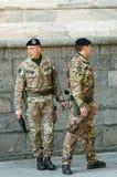 Italienische Soldaten Stockfoto