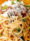 Italienische Spaghettis Lizenzfreie Stockfotos