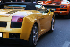 Italienische Sportwagen, lamborghini stockbilder