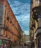 Italienische Straße - Turin Lizenzfreies Stockfoto