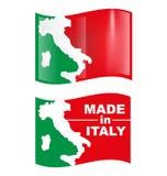 Italienische Symbolflagge Stockfotos