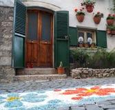 Italienische Tür und Fenster Stockfotos