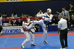 Italienische Taekwondo-Meisterschaften, Genua Stockbilder