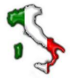 Italienische Tastenmarkierungsfahnen-Kartenform Stockfoto