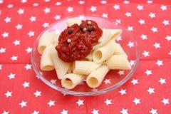 Italienische Teigwaren stockbilder