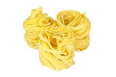 Italienische Teigwaren auf Weiß stockfoto
