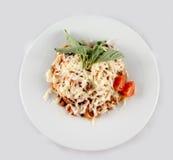 Italienische Teigwaren mit Parmesankäse Stockfotografie