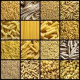 Italienische Teigwarencollage Stockbilder